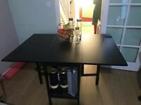 Extendable dinning table with storage option