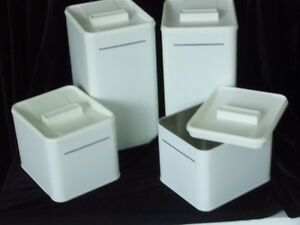 STACKABLE FLOUR, SUGAR ETC. CANISTERS, CONTAINERS