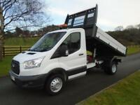 FORD TRANSIT 350 125PS ONE STOP TIPPER 65 REG 45,400 MILES