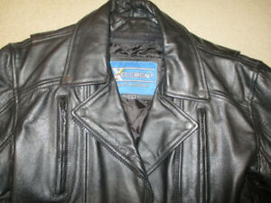 Men's Xelement Black Leather Jacket