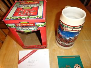 Excellent Christmas Gift...19 Collectable Budweiser Steins Sarnia Sarnia Area image 2