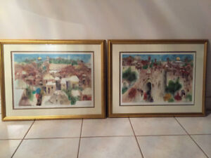 2 Signed Beautifully Scenic Greece Paintings - $50 ea