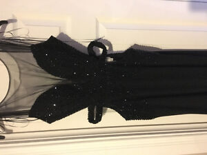 Sequined black Open-back Sherri Hill gown. Size 0