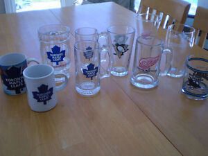 TORONTO MAPLE LEAF  MUGS AND OTHER SPORTS GLASSES