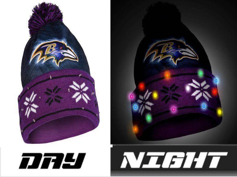 NFL Football Team Logo Big Logo LIGHT UP Beanie - Pick Your Team!