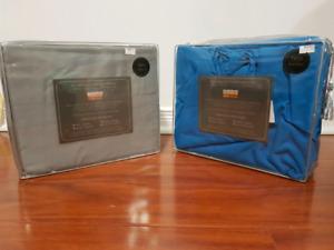 BLUE/ GREY Ultra Soft Sheet Set, Twin