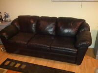 Leather sofa chairs and bonded leather couch