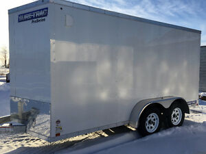 7x14 Enclosed Galvanized Trailer Made by Sure Trac Kitchener / Waterloo Kitchener Area image 3