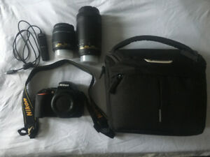 Nikon 5600 DX DSLR camera with two lenses - great deal