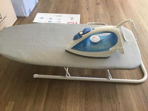 T-fal ultraglide iron +ironing board