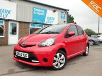 2013 Toyota AYGO 1.0 Move Style RED / BLACK ROOF ONLY 33K ZERO ROAD TAX !