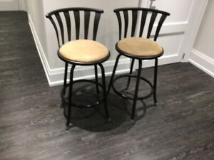 Kitchen counter swivel chairs - set of 2 for $70