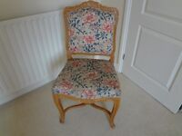 Upholstered decorative chair