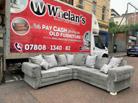 Brand new in the wrapper grey fabric chesterfield corner sofa £699