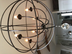 Lighting: Large Orb Chandelier. New, perfect condition.