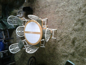 Table and chair set.