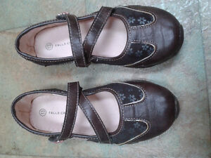 Girl's Brown/Pink dress shoes - size 13