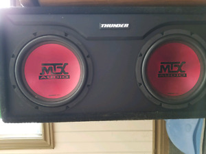 Two 10inch subs in box