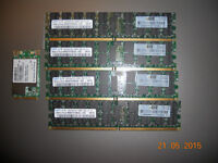 four 2gb FB ddr2 ram and pic e card