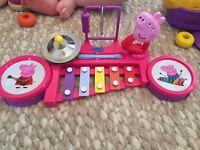 Peppa pig drum set