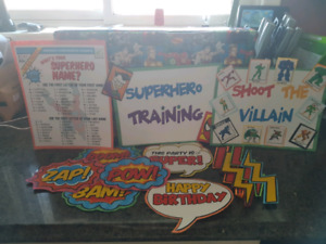 Superhero Training Birthday Decor