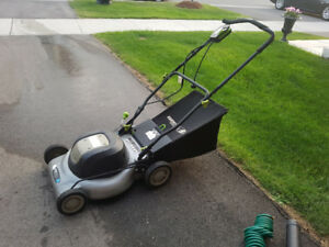 Earthwise Electric Mulching Lawn Mower with grass bag