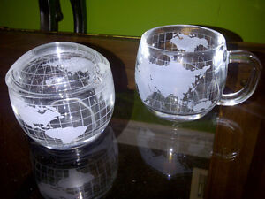 Nestle Co. Inc. globe cup and sugar bowl