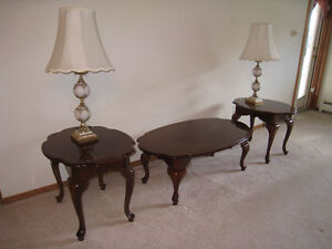 FOR SALE: French provincial coffee and end table set