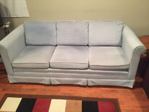 Free couch , light blue