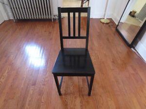 Black Wooden Chair Cambridge Kitchener Area image 1