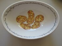 'The Jersey Royal' serving bowl by Richard Bramble for Jersey Pottery