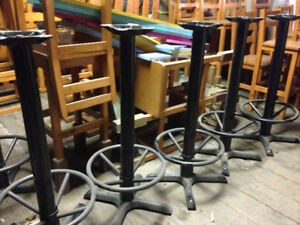 Restaurant Table Stands Metal - Table Legs LIKE NEW $99 each 9