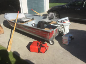 Boat/Motor and Electric Boat Loader for Sale as package