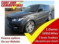 2016 16 LAND ROVER RANGE ROVER SPORT 3.0 SDV6 HSE DYNAMIC 5D AUTO 306 BHP 7 SEAT
