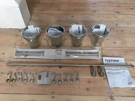 Fintorp Ikea Rail, cutlery stands and hooks