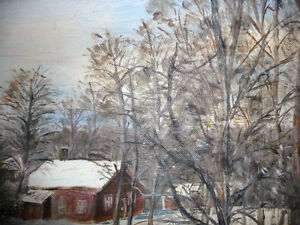 "Original Oil Painting ""Winter's Day By The Stream"" Stratford Kitchener Area image 7"