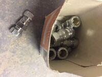 10 chrome 1 way compression valves