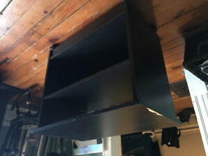 Black rolling tv stand