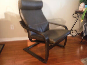 Like New Ikea Leather Poang Chair