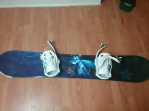 Sims ,star 145 series snowboard , 56 inches , with k2 bindings