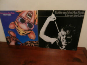 Vinyl Records Punk Eddie And The Hot Rods Lot of 2