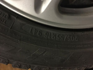 Winter tires on steel rims