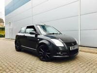 2007 07 reg Suzuki Swift 1.6 VVT Sport Black + Black & RED Interior
