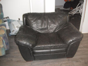 leather single couch