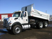 Gravel Trucks for Rent/Lease