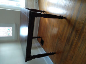 Solid Wood Bar-Height Dining Room Table with Extension