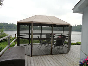 Screened 13 by 9 ft Gazebo