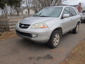 2002 Acura MDX SUV, Requires a part on throttle body