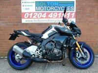 Yamaha MT-10SP motorcyclein Silver has just arrived and ready to drive away.