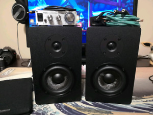 Micca MB42X Speakers woth Lepy 2020a Amp